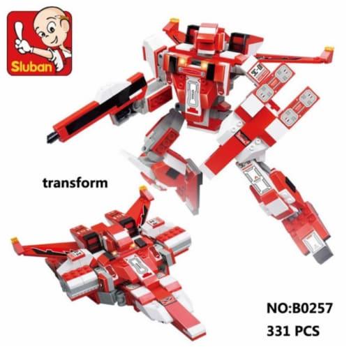 Sluban 257  Space - Flamingo Transformer Building Brick Kit (331 Pcs) Perspective: front