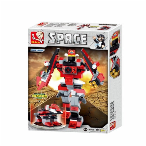 Sluban 7700  Space Fighter - Blaze Building Brick Kit (143 Pcs) Perspective: front