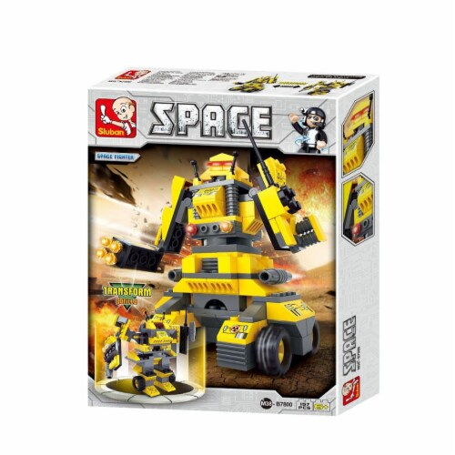 Sluban 7800  Space Fighter - Tiger Building Brick Kit (157 Pcs) Perspective: front