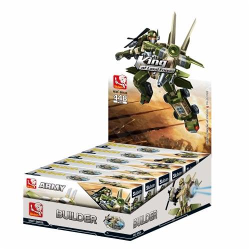 Sluban 636  ASSORT 6 KITS Army Transformer Building Brick Set (448 Pcs) Perspective: front