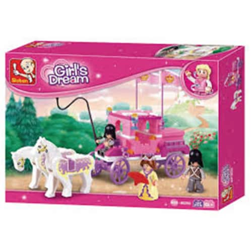 Sluban 250  Girl's Dream Royal Carriage Building Brick Kit (137 Pcs) Perspective: front