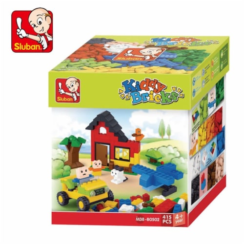Sluban Kiddy Bricks Classic Building Brick Set - 415 Piece Perspective: front