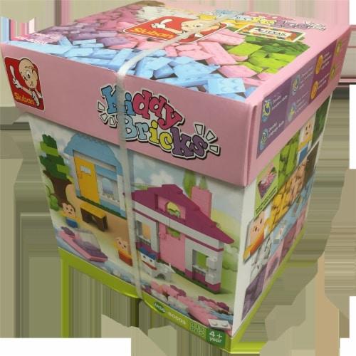 Kiddy Bricks  Girl's Soft Color Brick Set (415 Pcs) Perspective: front
