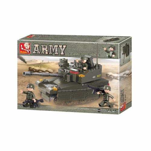 Sluban 667741116300 Armored Corps Tank Building Brick Kit (224 Pcs) Perspective: front