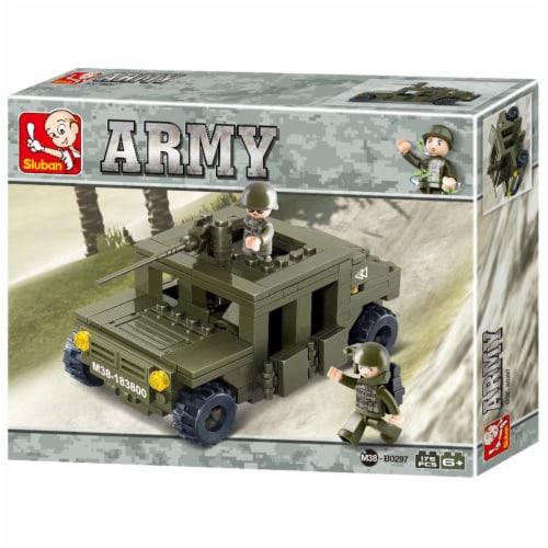 Land Forces Military Jeep Building Brick Kit (175 Pcs) Perspective: front