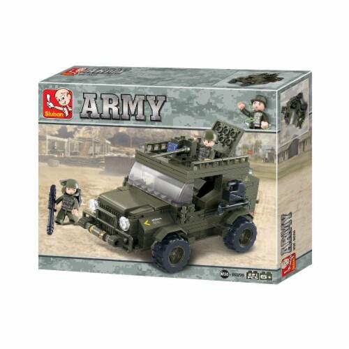 Land Forces 299 Jeep Building Brick Kit (221 Pcs) Perspective: front