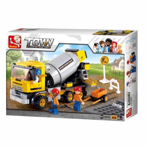 Sluban 550  Construction Cement Mixer Truck Building Brick Kits (296 Pcs) Perspective: front