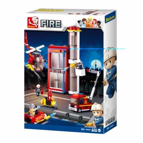 Sluban 628  Fire SubStation Building Brick Kit (425 Pcs) Perspective: front