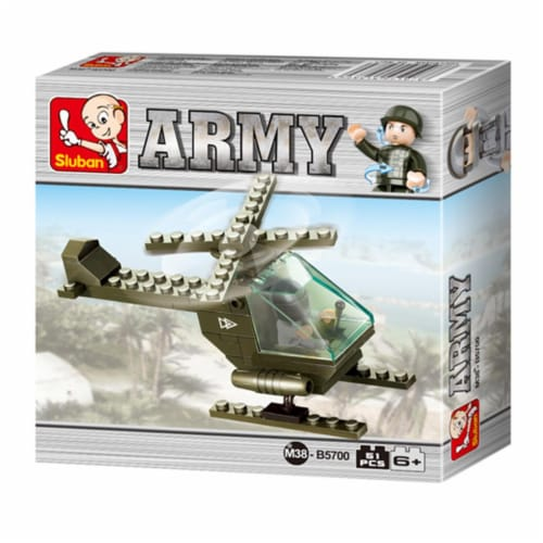 Land Forces Battle Copter Building Brick Kit (51 Pcs) Perspective: front