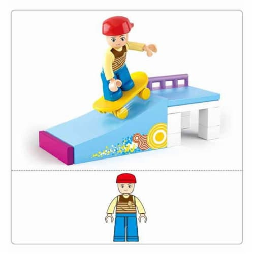 Sluban 512  Girl's Dream Skater Boy Building Brick Kit (23 pcs) Perspective: front