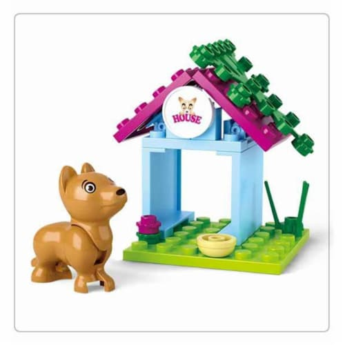 Sluban 513  Girl's Dream Dog House Building Brick Kit (19 pcs) Perspective: front