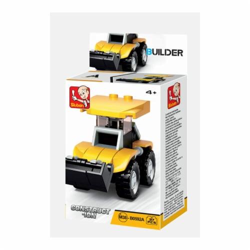Sluban 667741116812 BUILDER-Construction Bulldozer (37PCS) Perspective: front