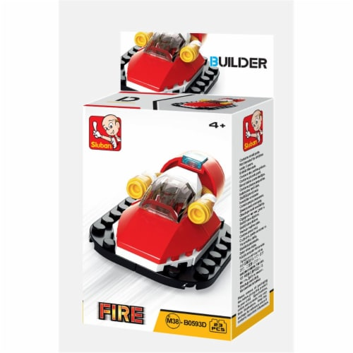 Sluban 667741116881 BUILDER-Fire Watercraft (23PCS) Perspective: front