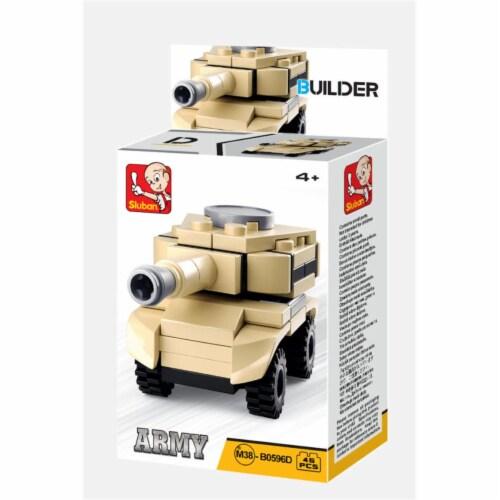 Sluban 667741116966 BUILDER-Army Khaki Tank (45PCS) Perspective: front
