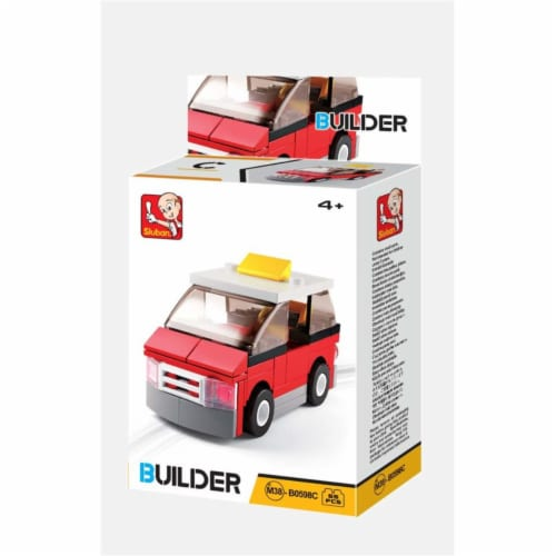 Sluban 667741117079 BUILDER-Minivan (55PCS) Perspective: front