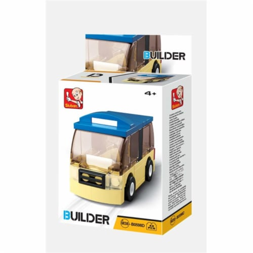 Sluban 667741117086 BUILDER-Mini Bus (46PCS) Perspective: front