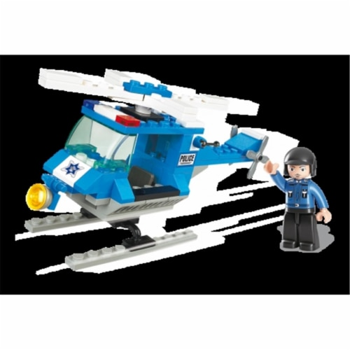 Sluban 175  TOWN - Police Helicopter Building Brick Kit (85pcs) Perspective: front