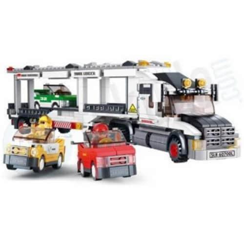 Sluban 339  Truck Transporter Building Brick Kit (638PCS) Perspective: front