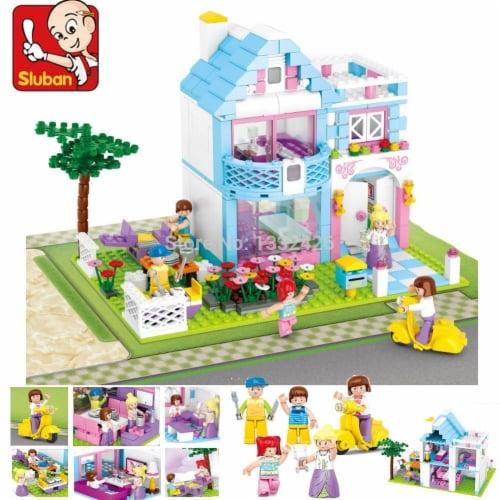Sluban 535  Girls Dream Garden Villa Building Brick Kit (539 pcs) Perspective: front