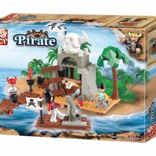 Sluban 278  Pirate Treasure Cove Building Brick Kit (142pcs) Perspective: front