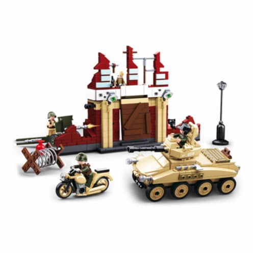 Sluban 696  WWII Battle of Stalingrad Building Brick Kit (479 pcs) Perspective: front