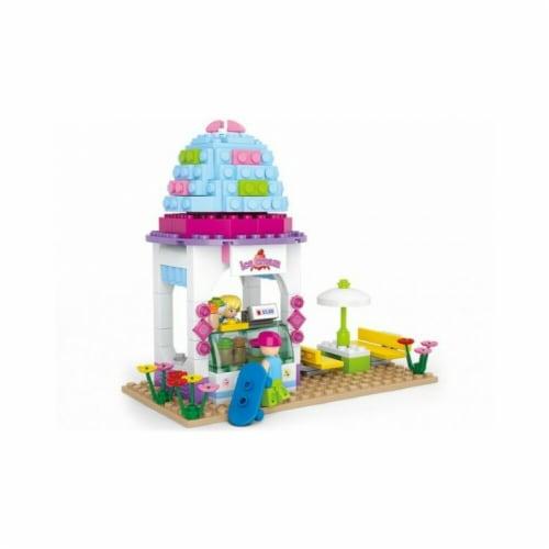 Sluban 525  Girls Dream Ice Cream Shop Building Brick Kit (205 pcs) Perspective: front