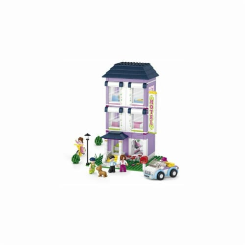 Sluban 531  Girls Dream Youth Hotel Building Brick Kit (541 pcs) Perspective: front