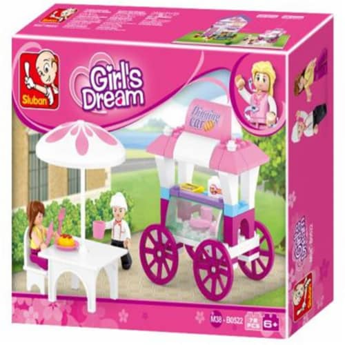 Sluban 522  Girl's Dream Food Carriage (78 pcs) Perspective: front