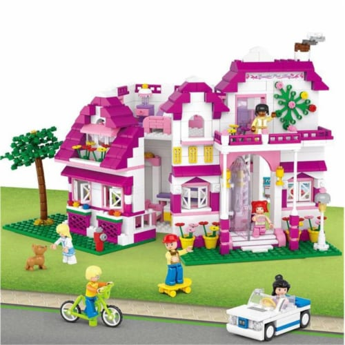 Sluban 536  Girl's Dream Seaside Villa Building Brick Kit (726 pcs) Perspective: front