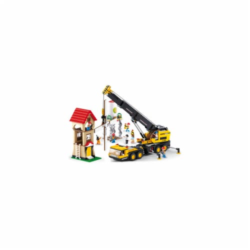 Sluban 553  Construction Crane Truck Building Brick Kit (767 pcs) Perspective: front