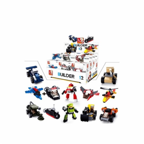 Sluban 591  BUILDER Master-12PCS IN ONE DISPLAY 323PCS Perspective: front