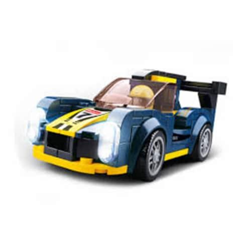 Sluban 673  Car Club LeMans Car Building Brick Kit (154 pcs) Perspective: front