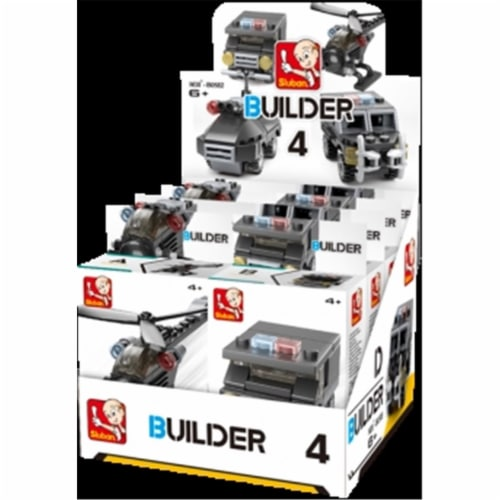Sluban 595  BUILDER Police -8PCS IN ONE DISPLAY 326PCS Perspective: front