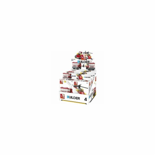 Sluban 593  BUILDER Fire -8PCS IN ONE DISPLAY 276PCS Perspective: front