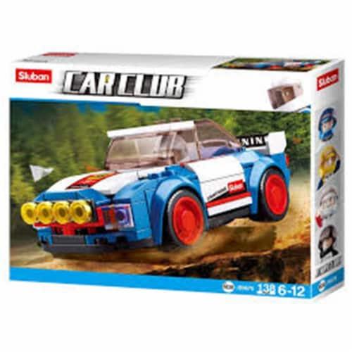 Sluban 675  Car Club Rally Car Building Brick Kit (138 pcs) Perspective: front