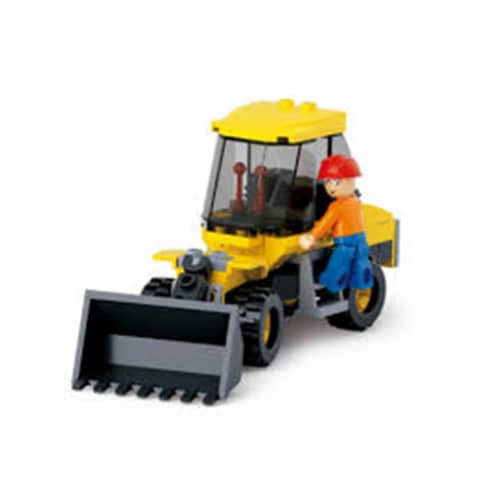 Sluban 377B Small Forklift Truck Building Brick Kit (91pcs) Perspective: front