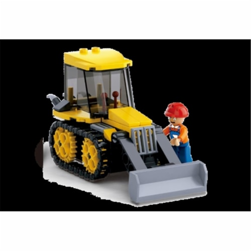 Sluban 377D Small Street Roller Building Brick Kit (132 pcs) Perspective: front