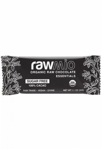Windy City Organics Rawmio Essentials Dark Chocolate Bar Perspective: front