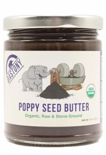 Windy City Organics Dastony Organic Poppy Seed Butter Perspective: front