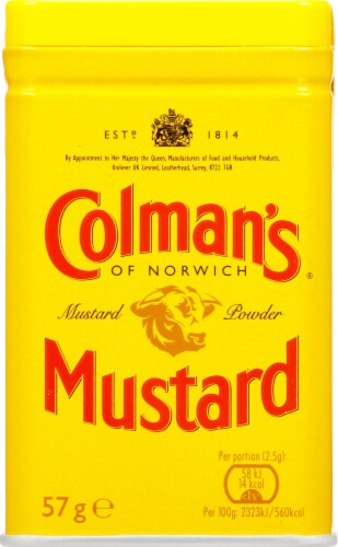 Colman's Dry Hot Mustard Perspective: front