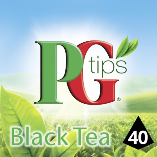 PG Tips Black Tea Pyramid Tea Bags 40 Count Perspective: front