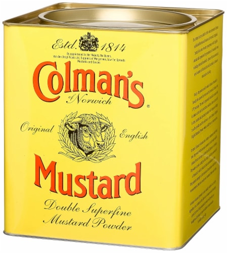 Colman's Double Superfine Mustard Powder, 4 Pound 6 Ounce Tin Perspective: front
