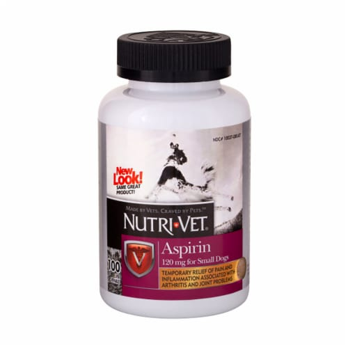 Nutri-Vet K-9 Aspirin for Small Dogs 120mg Perspective: front