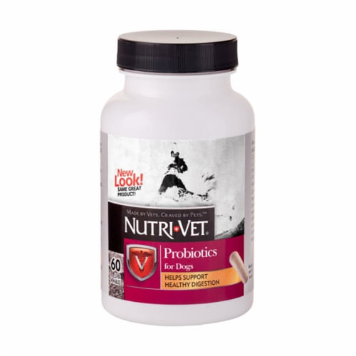 Nutri-Vet Probiotics Digestive Health for Dog Capsules Perspective: front