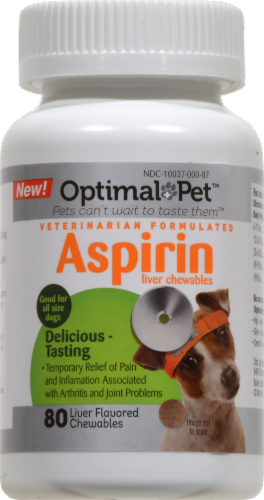 Optimal Pet Liver Flavored Aspirin Chews 120mg Perspective: front