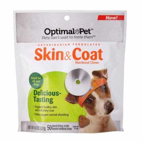 Optimal Pet Skin & Coat Nutritional Chews Perspective: front