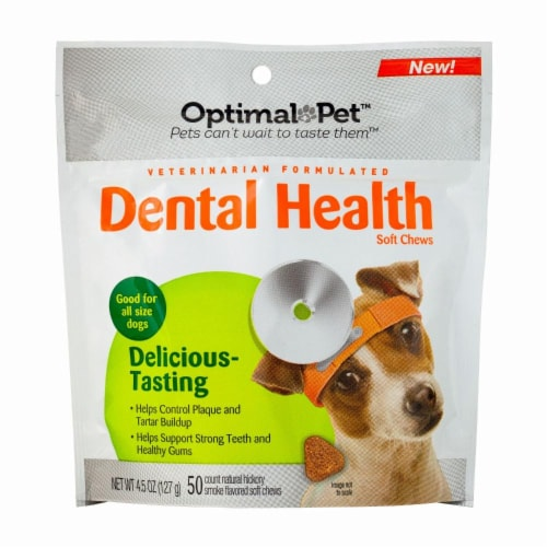 Optimal Pet Dental Health Soft Chews Perspective: front