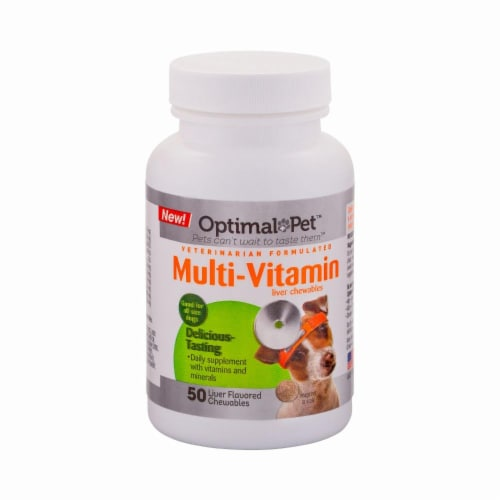 Optimal Pet Multi-Vitamin Liver Chewables Perspective: front