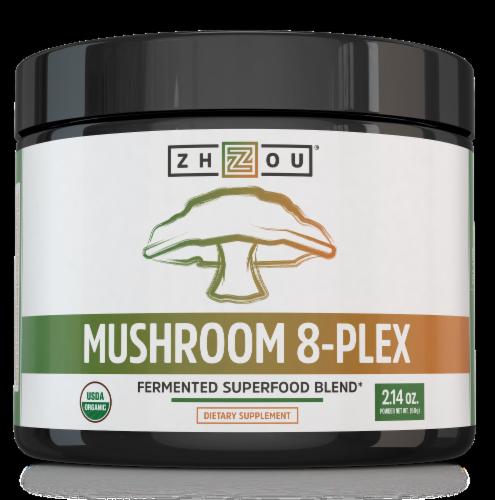 Zhou Mushroom 8-Plex Fermented Superfood Blend Perspective: front