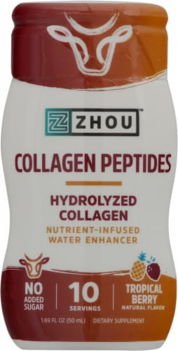 Zhou Collagen Peptides Tropical Berry Water Enhancer Perspective: front